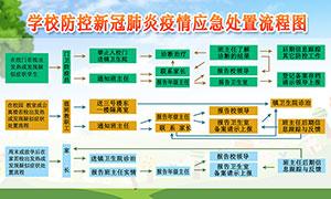 校园防控新冠肺炎应急处置流程图宣传栏