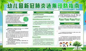 幼儿园新冠肺炎通用预防指南宣传栏设计