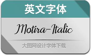 Motira-Italic(英文字体)