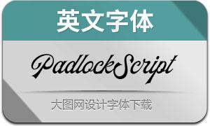 PadlockScript(英文字体)