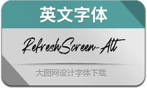 RefreshScreenAlternate(英文字体)
