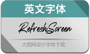 RefreshScreen(英文字体)