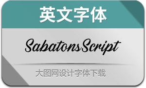 SabatonsScript(英文字体)