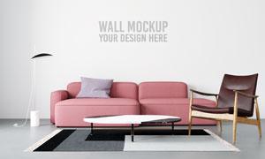 室内客厅空间墙壁背景模板分层素材