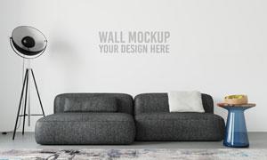 沙发落地灯衬托的墙纸背景贴图模板