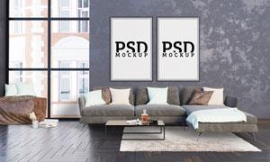 墙上的室内装饰画内容贴图模板素材