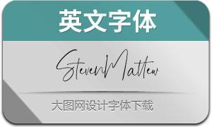StevenMattew(英文字体)