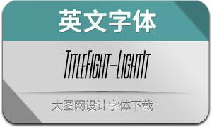 TitleFight-LightItalic(с╒ндвжСw)