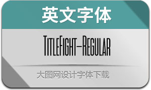 TitleFight-Regular(英文字体)