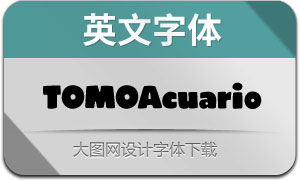 TOMOAcuarioRegular(英文字体)