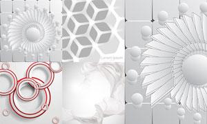 綢子與灰色的幾何圖案背景矢量素材