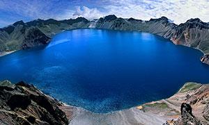 长白山天池俯视图摄影图片