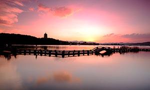 西湖十景之雷峰夕照摄影图片
