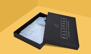 装衬衫的包装盒图案印刷效果源文件