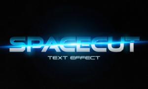 藍色光效立體字效貼圖模板分層素材