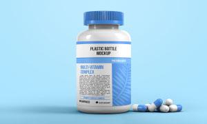 药瓶与胶囊药物样机模板分层源文件