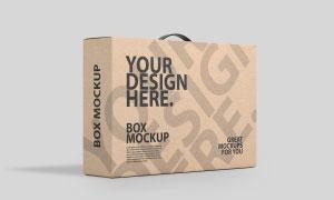 手提式包装盒外包装图案样机源文件