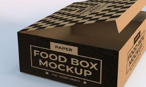 纸质包装盒图案应用效果模板源文件