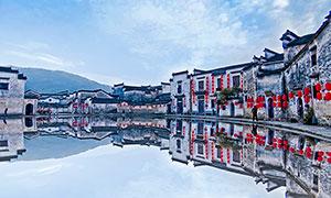 安徽宏村建筑高清摄影图片