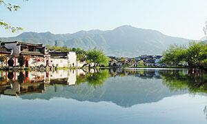 美麗宏村高清攝影圖片