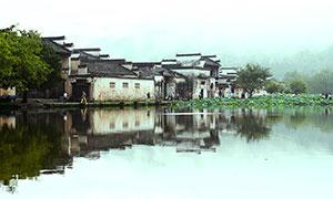 黃山宏村古建筑攝影圖片