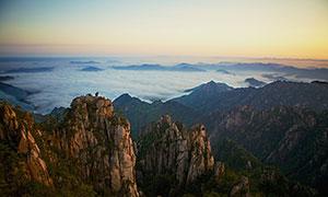黃山景點猴子觀海高清攝影圖片