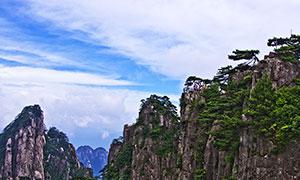 黃山山峰美景攝影圖片