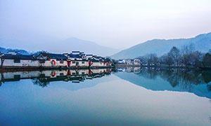 安徽宏村美麗風光攝影圖片