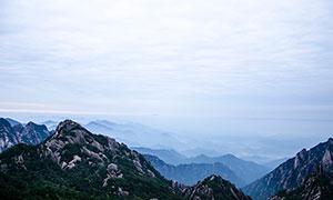 黃山山頂美麗景觀攝影圖片