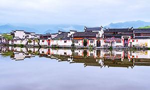 宏村徽派古建筑攝影圖片