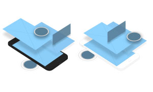 手机平台APP界面应用展示贴图模板