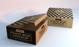 包装箱顶部与侧面图案贴图模板素材
