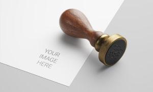 印章与纸张上的印戳效果贴图源文件
