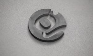 立体质感效果图案文字标志等样机模板