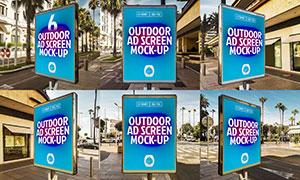 户外广告牌海报样机模板系列素材V4