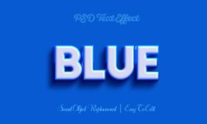 藍色描邊樣式立體字體貼圖模板素材