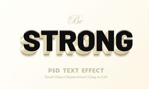 立體質感浮雕效果字體樣式模板素材