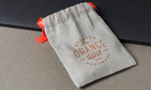 棉麻布束口袋圖案應用效果樣機模板