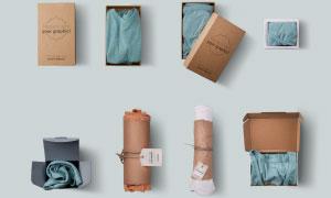 多種包裝形式的衣服樣機模板源文件