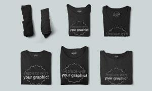 衛衣與T恤衫服裝圖案效果模板源文件