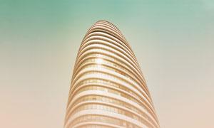 聳入云端的高層建筑物攝影高清圖片