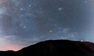 繁星點點夜空自然風光攝影高清圖片