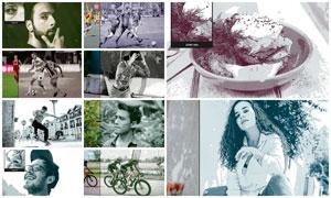 數碼照片添加印刷網紋效果PS動作