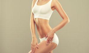 白色内衣装扮瘦身运动人物高清图片