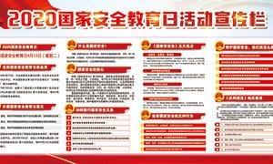 全民国家安全教育日宣传栏设计PSD素材