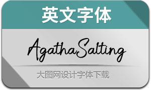 AgathaSalting(英文字体)