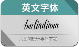 Ameliadiana(英文字体)