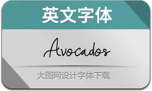 Avocados(英文字体)