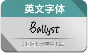 Ballyst(英文字体)