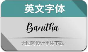 Banitha(英文字体)